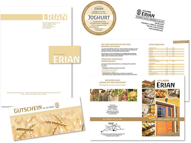 Briefpapier und Visitenkarten Erian